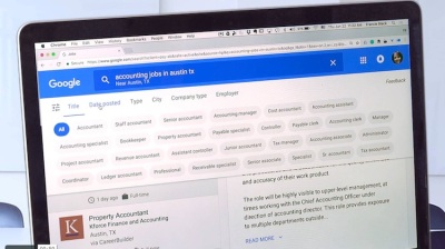 Google for jobs search feature