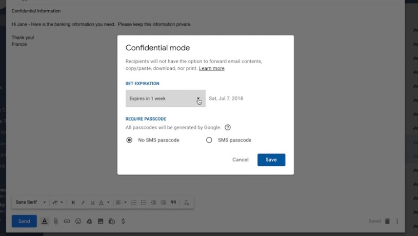 Gmail How to use confidential mode